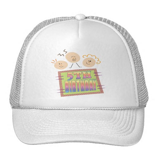 5th Birthday Gifts Mesh Hats