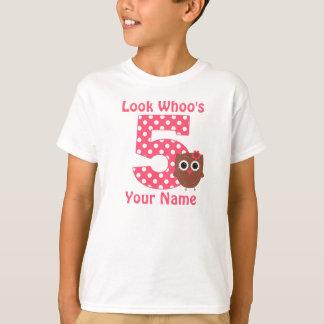 5th Birthday Owl Personalized Shirt