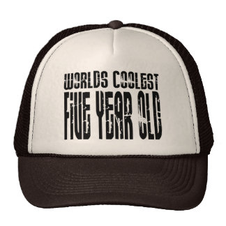 5th Birthday Parties Worlds Coolest Five Year Old Trucker Hats