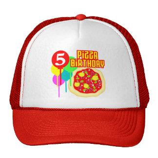 5th Birthday Pizza Birthday Mesh Hats