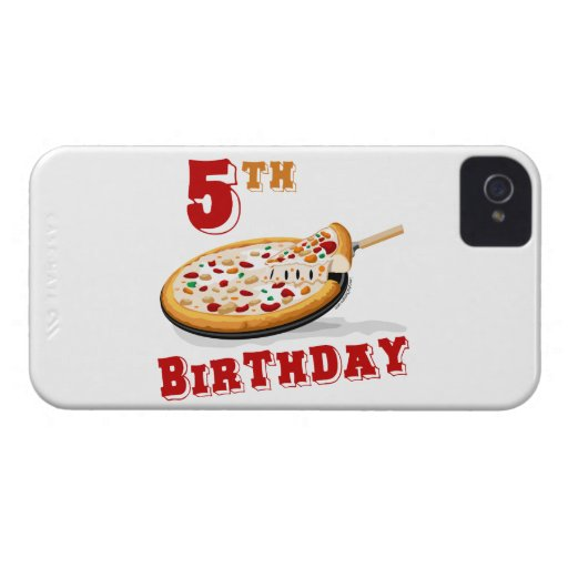 5th Birthday Pizza Party iPhone 4 Case