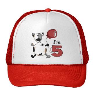 5th Birthday Puppy Birthday Mesh Hat