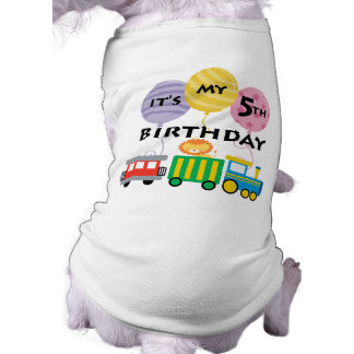 5th Birthday Train Birthday Shirt
