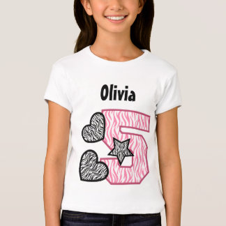 5th Birthday Zebra Stripes Five Year V02B Shirt