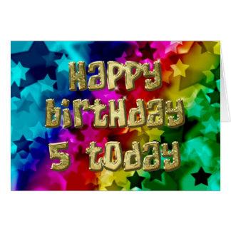 5th Bright stars birthday card