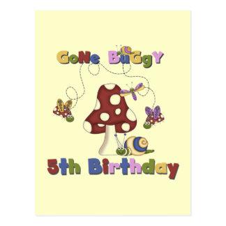 5th Bug Birthday Tshirts and Gifts Postcard