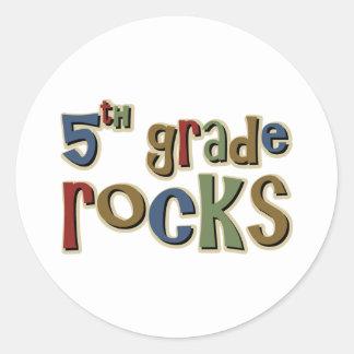 5th Grade Rocks Fifth Stickers