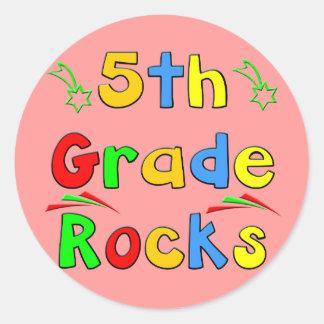 5th Grade Rocks Round Sticker