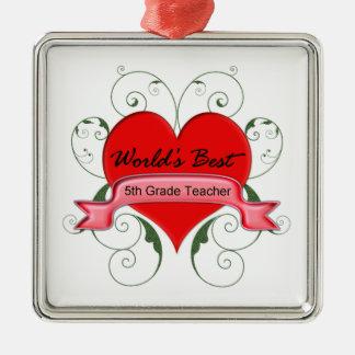 5th. Grade Teacher Christmas Ornament