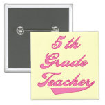 5th  Grade Teacher Pink Text Tshirts