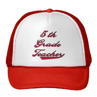 5th Grade Teacher Red Tshirts and Gifts Mesh Hat