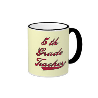 5th Grade Teacher Red Tshirts and Gifts Mug