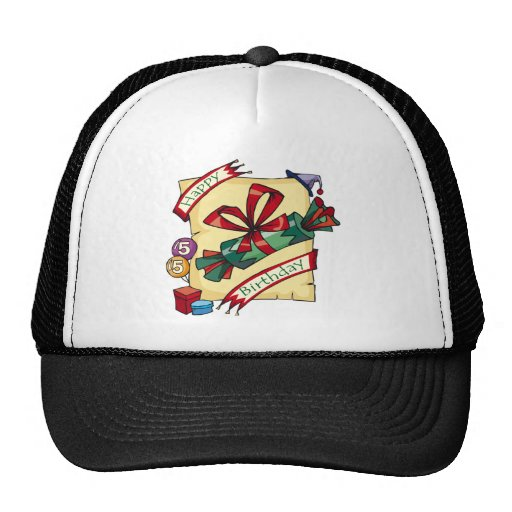 5th Happy Birthday Gifts Trucker Hats