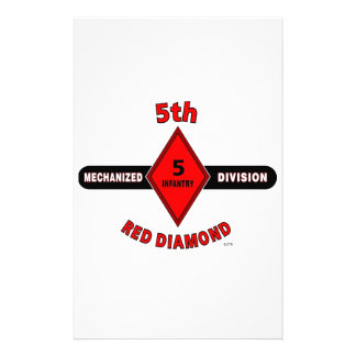 "5TH INFANTRY DIVISION (MECHANIZED)""RED DIAMOND"" CUSTOM STATIONERY"