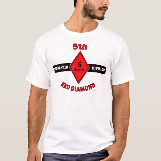 "5TH INFANTRY DIVISION (MECHANIZED)""RED DIAMOND"" T-Shirt"