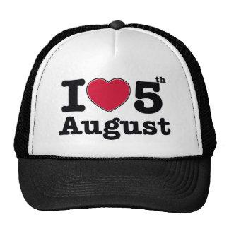 5th july birthday design trucker hat
