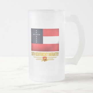 5th Kentucky Infantry Frosted Glass Beer Mug