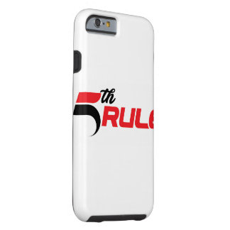 5th rule fitness iPhone case (tough)