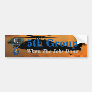 5th Special Forces Green Berets Group SF SFG SOF Bumper Sticker