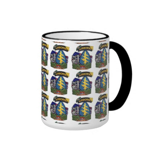 5th special forces green berets nam patch cup coffee mug