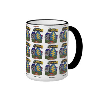 5th special forces green berets nam patch cup ringer mug