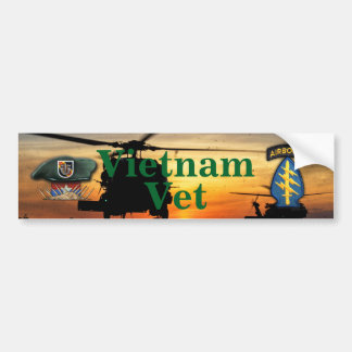 5th Special Forces Green Berets SF SFG Vietnam Nam Bumper Sticker