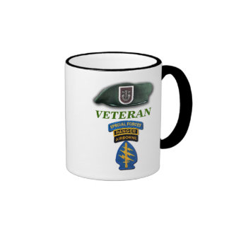 5th Special Forces Green Berets vets veterans LRRP Ringer Mug