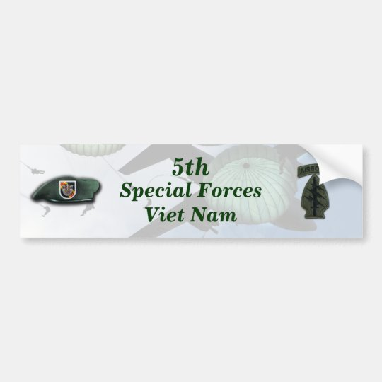 5th special forces green berets vietnam nam bumper sticker