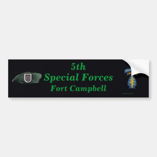 5th special forces group Fort Campbell iraq Bumper Bumper Sticker
