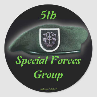 5th Special forces group fort campbell veterans Round Sticker
