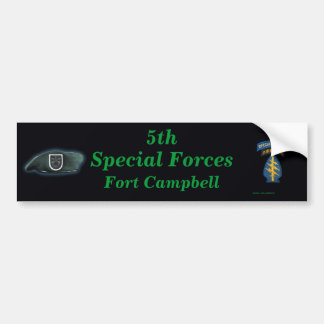 5th special forces group iraq Bumper Sticker vets