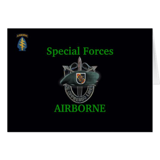 5th special forces group SF SFG SFGA Card