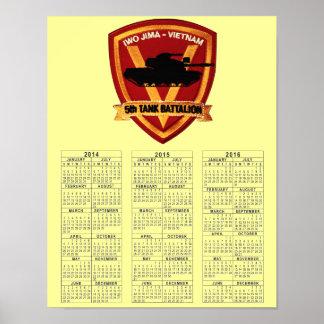 5th TANK BATTALION VIETNAM Poster