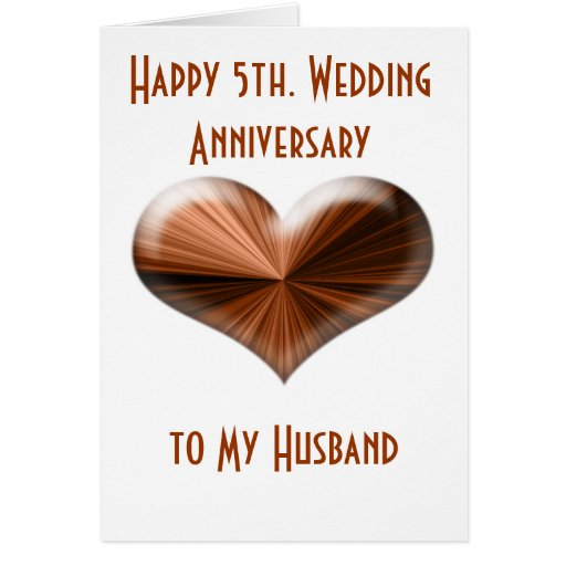 Fifth Wedding Anniversary Ideas: 5th. Wedding Anniversary Card To Husband And Wife