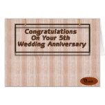 5th Wedding Anniversary Cards
