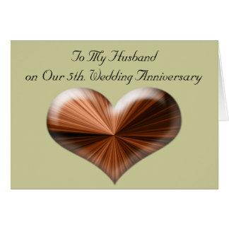 5th Wedding Anniversary to My Husband Card