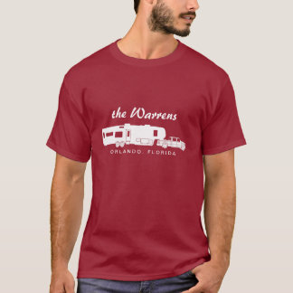 5th Wheel RV Silhouette Graphic T-Shirt