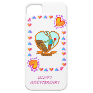 5th wood wedding anniversary iPhone 5 cases