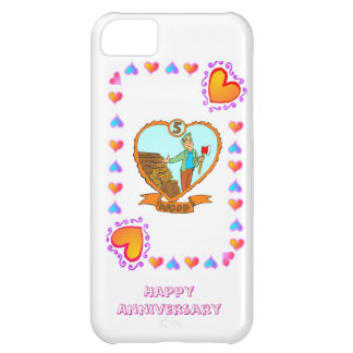 5th wood wedding anniversary iPhone 5C case