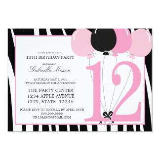 5x7 12th Birthday Party Invite