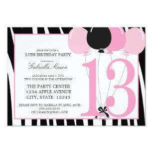 5x7 13th Birthday Party Invite