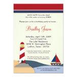 """5x7 Ahoy Mate Sail Boat Birthday Party Invitation 5"""" X 7"""" Invitation Card"""