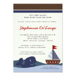 5x7 Ahoy Mate Sailboat Whal Baby Shower Invitation