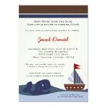 5x7 Ahoy Mate Sailboat Whal Birthday Invitation