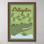 """5x7 """"Alligato"""" Jungle Safari Baby Bedding Wall Art"""