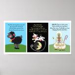5x7 Black Sheep Diddle Bo Peep Kids Room Wall Art Posters