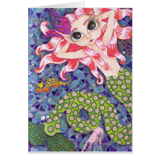 5x7 card with Mermaid