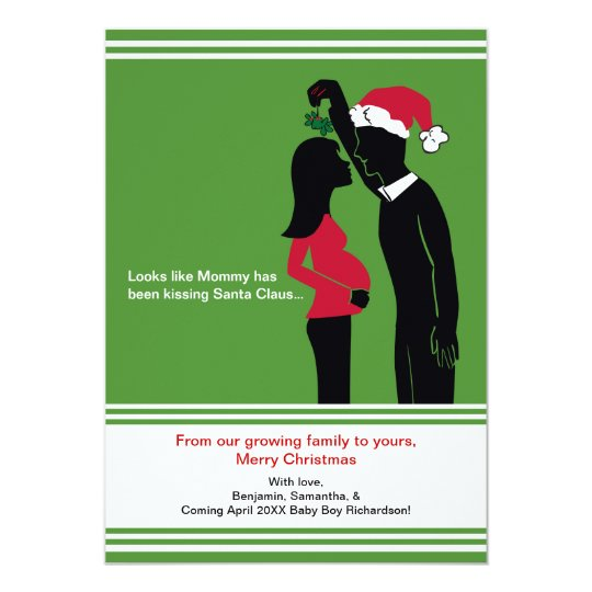 5x7 Christmas Pregnancy Announcement Cards - Mummy