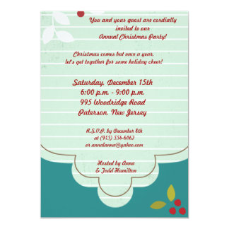 5x7 Cranberry Christmas Invitation
