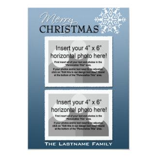 5x7 Double-sided Holiday Photo Card Custom Invitations